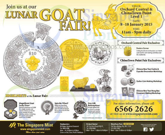 Singapore Mint Lunar Fair 9 Jan 2015