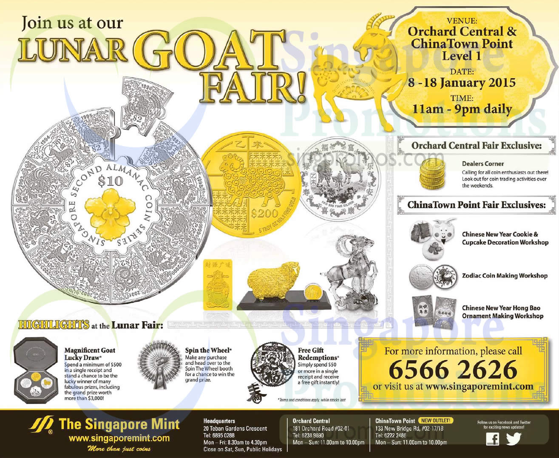 Singapore Mint Lunar Fair 9 Jan 2015
