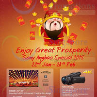 Sony TVs, Digital Cameras & Tablets Angbao Promo Offers 22 Jan - 28 Feb 2015