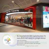 Read more about Sports Town Spend $100 & Get $20 Vouchers @ Westgate 16 - 31 Jan 2015