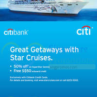 Read more about Star Cruises 50% Off SuperStar Gemini For Citibank Cardmembers 22 Jan 2015