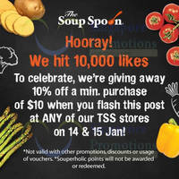 Read more about The Soup Spoon 10% OFF Coupon 14 - 15 Jan 2015