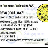 Read more about Twelve Cupcakes 50 Cents Cupcakes 50min Promo 12 Jan 2015