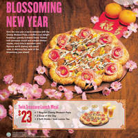 Pizza Hut NEW Cheesy Blossom Pizza, Salmon Abundance & More 28 Jan - 3 Mar 2015