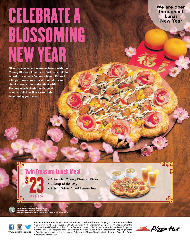 Pizza Hut NEW Cheesy Blossom Pizza, Salmon Abundance & More 28 Jan ...