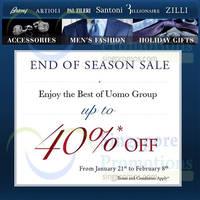 Read more about UOMO Luxury Menswear Brands End of Season Sale @ MBS 21 Jan - 8 Feb 2015