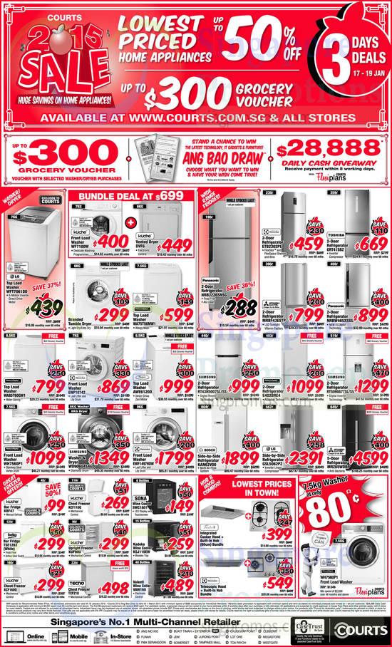LG WFT7061DD Washer, Kuche WF7100W Washer, Kuche DVF6 Dryer, Fisher & Paykel WA75T56MW1 Washer, Fisher & Paykel WA85T60GW1 Washer, Electrolux EWP10742 Washer, Fisher & Paykel WH7560P1 Washer, Samsung WD906U4SAGD Washer/Dryer, Electrolux EWF1497HDW Washer, Whirlpool AWE6120D Washer, Panasonic NRBJ226SNSG Fridge, Electrolux ETB2302PE Fridge, Toshiba GRT41SBZ Fridge, Mitsubishi Electric MRBF43ESTP Fridge, Panasonic NRBW465XSSG Fridge, Samsung RT43H5007SL/SS Fridge, Bosch KAN62V00 Fridge, Fisher & Paykel E402BRE4 Fridge, LG GSL5062PZ Fridge, Samsung RT50H6677SL/SS Fridge, Mitsubishi Electric MRZ65WDBP Fridge, Kuche KBF47 Fridge, Beko TSE1283 Fridge, Kuche KCF160Q Freezer, Kuche KCF110Q Freezer, Kuche KUF90U Freezer, Tecno TCF218 Freezer, Sona SWC1801 Wine Cooler, Kadeka KSJ115EW Wine Cooler, Valenti VAW160 Wine Cellar and Fisher & Paykel WH7560P1 Washer