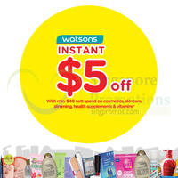 Watsons Spend $40 & Get $5 Off 26 Jan - 1 Feb 2015