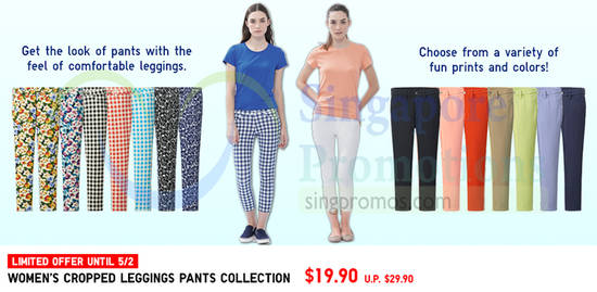 Womens Cropped Leggings Pants Collection