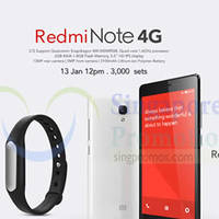 Read more about Xiaomi Redmi Note 4G & Mi Band Online Sale 13 Jan 2015