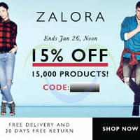 Read more about Zalora 15% OFF Storewide Coupon Code 23 - 26 Jan 2015