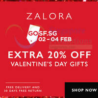 Zalora 20% OFF Valentine's Day Gift Guide Items GOSF Coupon Code 2 - 9 Feb 2015