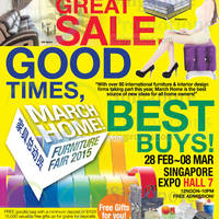Read more about March Home Furniture Fair 2015 @ Singapore Expo 28 Feb - 2 Mar 2015
