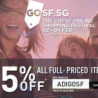 Read more about Adidas Online Store 15% Off Coupon Code 2 - 4 Feb 2015