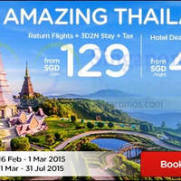 Read more about Air Asia Go Thailand Hotels From $49 & From $129 3D2N Flights + Taxes Promo 16 Feb - 1 Mar 2015
