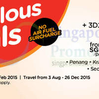 Air Asia Go 3D2N From $99 Flights + Hotels + Taxes 2 - 8 Feb 2015
