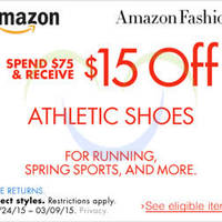 Read more about Amazon.com $15 OFF Athletic Shoes Coupon Code 24 Feb - 10 Mar 2015
