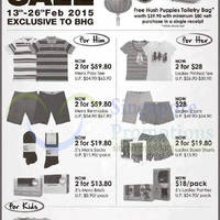 Read more about Hush Puppies Apparel CNY Sale @ BHG 13 - 26 Feb 2015