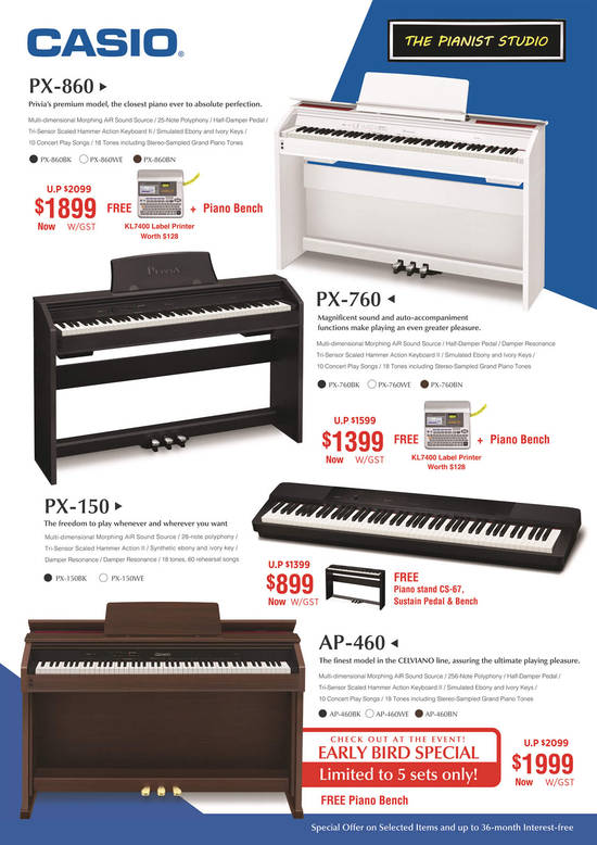 Casio Privia, Celviano Piano Offers