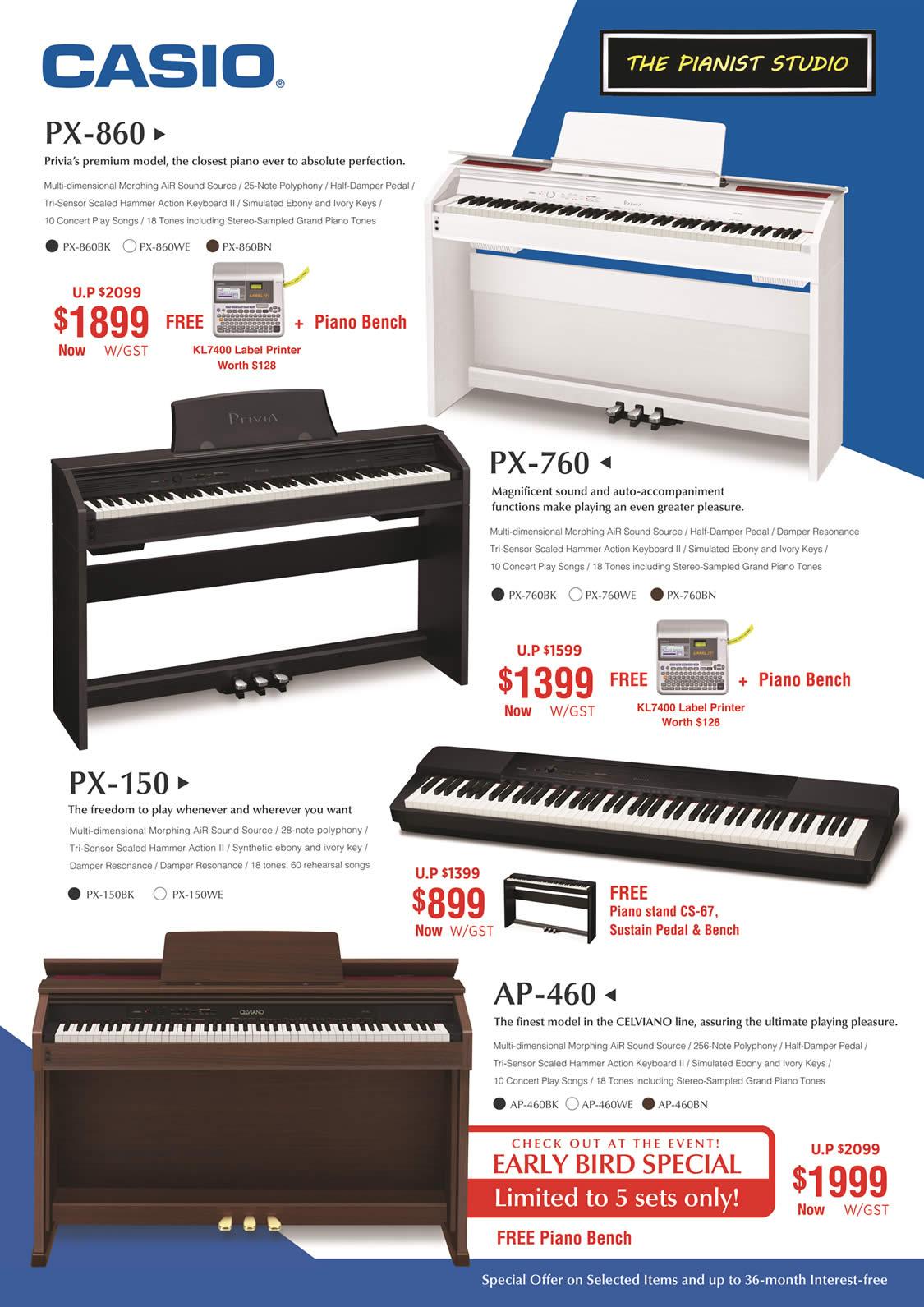 Casio Privia, Celviano Piano Offers
