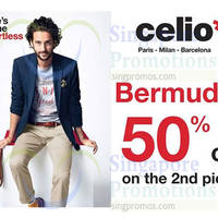 Read more about Celio* 50% OFF 2nd Bermudas Promo 23 Feb - 17 Mar 2015
