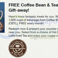 Read more about (Fully Redeemed!) Coffee Bean & Tea Leaf FREE Beverage Voucher For Singtel Customers 9 Feb 2015