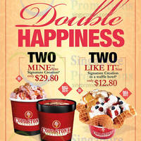 Read more about Cold Stone Creamery Double Happiness Offers 1 Feb - 5 Mar 2015