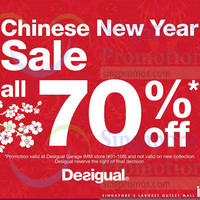 Read more about Desigual 70% Off Sale @ IMM 11 Feb - 10 Mar 2015
