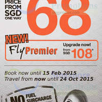 Read more about Firefly From $68 (all-in) Fares Promo 10 - 15 Feb 2015