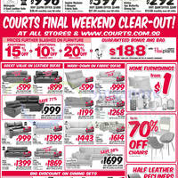 Read more about Courts Final Weekend Clearout Offers 28 Feb - 1 Mar 2015