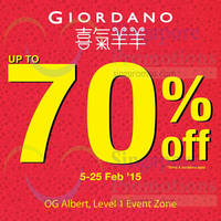 Read more about Giordano Up To 70% Off @ OG Albert 5 - 25 Feb 2015
