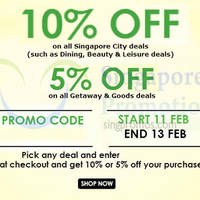 Read more about Groupon Up To 10% OFF (NO Min Spend) 72hr Coupon Code 11 - 13 Feb 2015