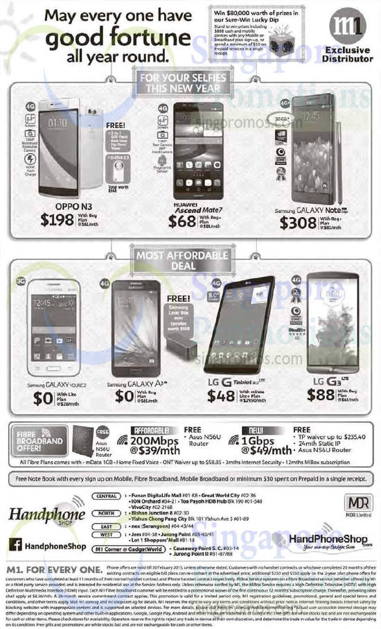 Handphone Shop Oppo N3 Huawei Ascend Mate 7 Samsung
