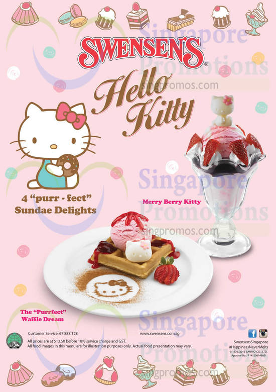 Hello Kitty Sundae Delights, Merry Berry Kitty, The Purrfect Waffle Dream