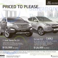 Hyundai Santa Fe & Hyundai Tucson Offers 28 Feb 2015