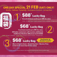 Read more about Isetan Up To 80% Off Lucky Bags 1-Day Offer 21 Feb 2015