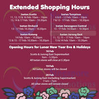 Read more about Isetan Extended Opening Hours & Chinese New Year Opening Hours 6 - 20 Feb 2015