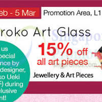 Read more about Hiroko Art Glass Promotion Event @ Isetan Scotts 24 Feb - 5 Mar 2015