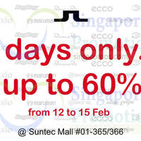 Read more about J.Lindberg Up To 60% Off @ Suntec City 12 - 15 Feb 2015