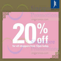 Read more about John Little 20% Off Storewide Promotion 20 - 22 Feb 2015