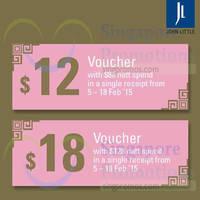 Read more about John Little Spend $88 & Get $12 Free Voucher 5 - 18 Feb 2015
