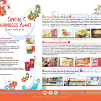Kallang Leisure Park Spring Surprises Promotions & Activities 23 Jan - 8 Mar 2015