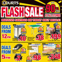 Read more about Courts Up To 75% Off 1-Day Flash Sale Offers 6 Feb 2015