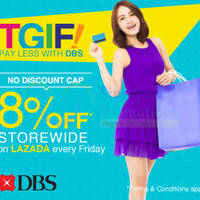 Read more about Lazada 8% Off Storewide With DBS/POSB Cards (NO Min Spend & NO Discount Cap) 27 Feb 2015