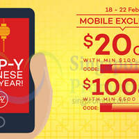 Read more about Lazada $20 to $100 OFF Storewide Coupon Codes 18 - 22 Feb 2015