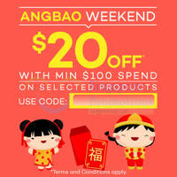 Read more about Lazada $20 OFF Selected Items Coupon Code 27 Feb - 1 Mar 2015