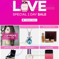 Read more about Lazada Up To 80% Off 1-Day Valentine's Day For Her Sale 6 Feb 2015