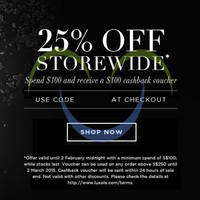 Luxola 25% OFF Storewide (NO Min Spend) Coupon Code 2 - 4 Feb 2015