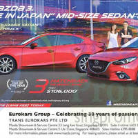 Mazda 3 Sedan & Mazda 3 Hatchback Offers 28 Feb 2015