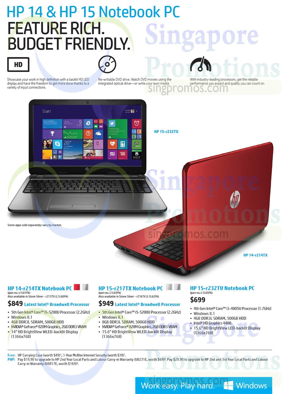 Hp notebook desktop - Notebooks 14 R214tx 15 R217tx 15 R232tu